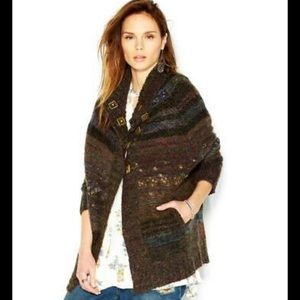 Free People Starlight Shadow' Poncho Cardigan S